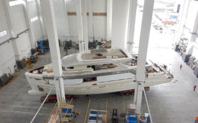SEMI-CUSTOM DUCALE 120 at an advanced stage of construction